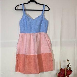 Three tone strap dress